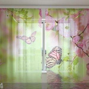 Wellmira Sifonki-Kuvaverho Butterflies In Spring 240x220 Cm