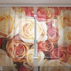 Wellmira Sifonki-Kuvaverho Candy Roses 240x220 Cm