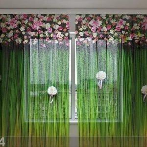 Wellmira Sifonki-Kuvaverho Flower Lambrequins Harmony 240x220 Cm