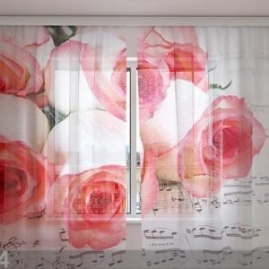 Wellmira Sifonki-Kuvaverho Music Of Roses 240x220 Cm