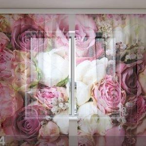 Wellmira Sifonki-Kuvaverho Pink Dream 240x220 Cm