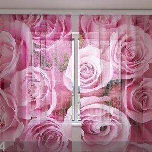 Wellmira Sifonki-Kuvaverho Roses 240x220 Cm