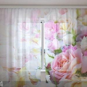 Wellmira Sifonki-Kuvaverho Roses And Petals 240x220 Cm