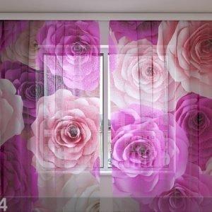Wellmira Sifonki-Kuvaverho Roses Carolina 240x220 Cm