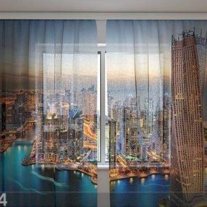 Wellmira Sifonki-Kuvaverho Skyscrapers Of Dubai 240x220 Cm