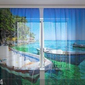Wellmira Sifonki-Kuvaverho Spanish Boats 240x220 Cm