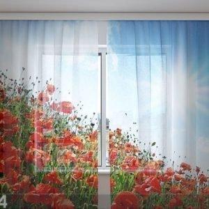 Wellmira Sifonki-Kuvaverho Sunny Poppies 240x220 Cm