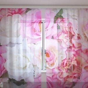 Wellmira Sifonki-Kuvaverho Tender Roses 240x220 Cm