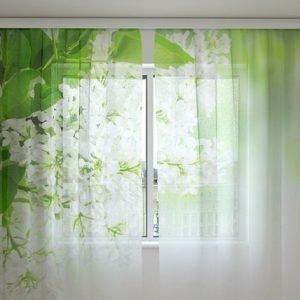 Wellmira Sifonki-Kuvaverho White Lilac 240x220 Cm