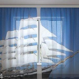 Wellmira Sifonki-Kuvaverho White Sailing-Ship 240x220 Cm